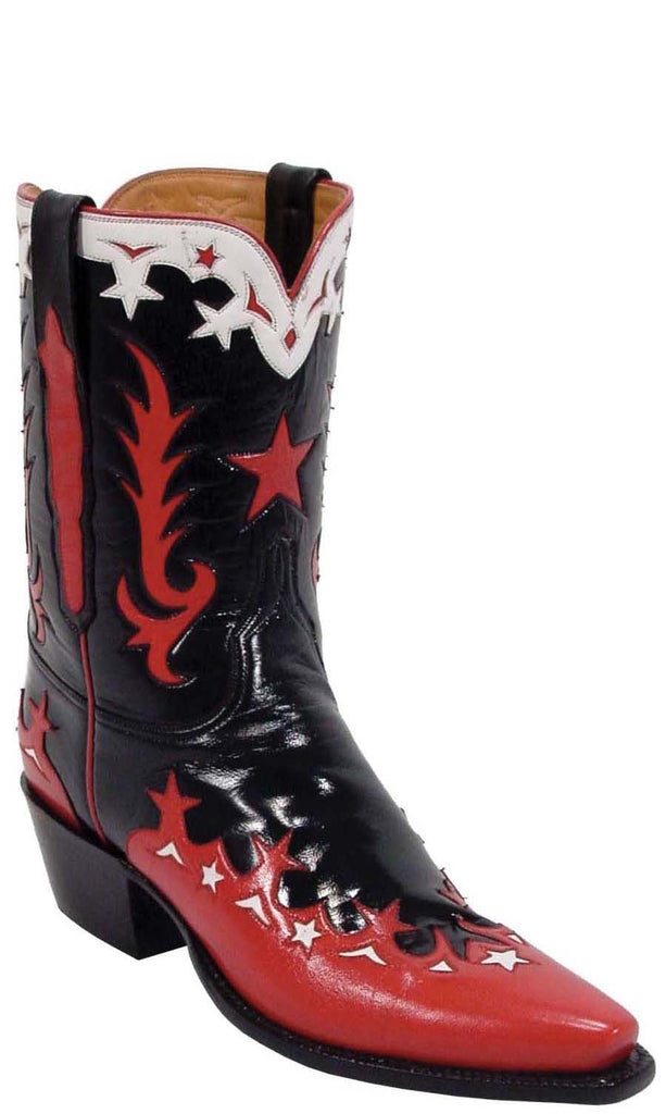 Lucchese Classics L7004 Womens Vintage Black Calfskin Boot