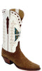 Lucchese Classics L7010 Womens Vintage Rust Suede Wheat Goat Boot