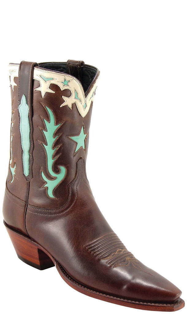 Lucchese Classics L7011 Womens Vintage Chocolate Oil Calfskin Boot
