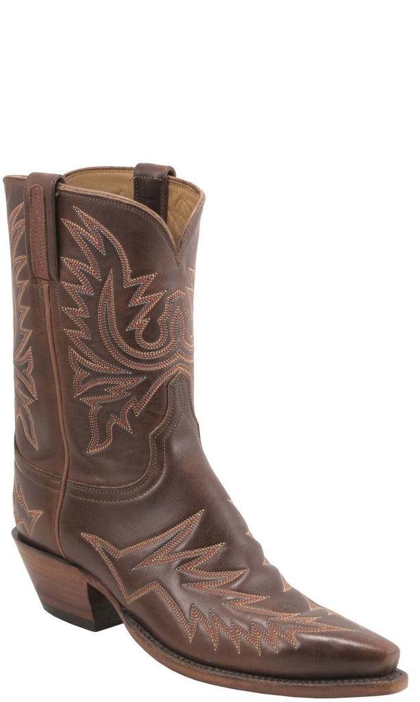 Lucchese Classics L7020 Womens Vintage Chocolate Oil Calfskin Boot