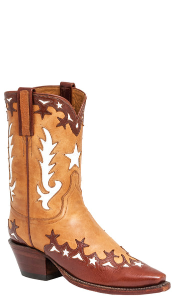 Lucchese L7021 Vintage Honey Ranch Hand Calfskin Womens Classics Boots