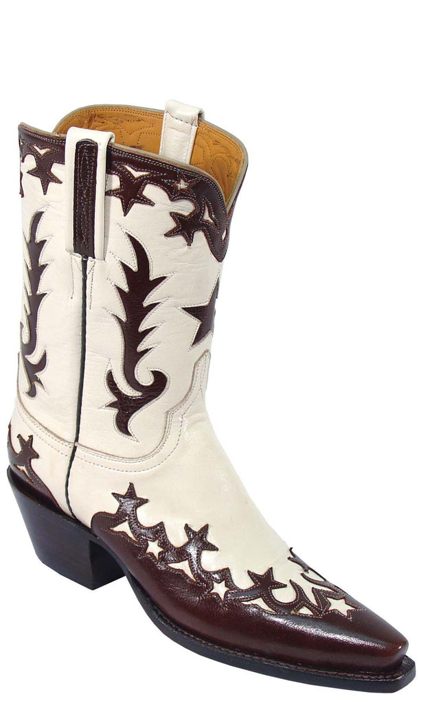 Lucchese L7022 Womens Vintage Wheat Goat Boots