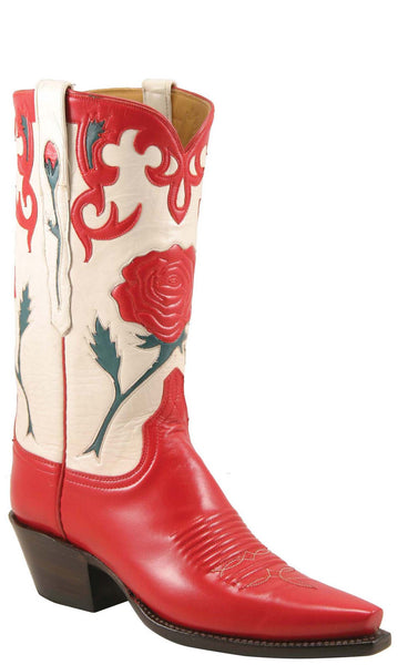 Lucchese L7047 Womens Vintage Red Wheat Goat Boots