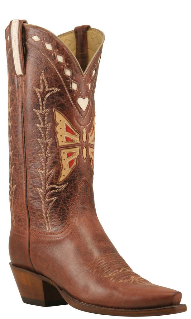 Lucchese Classics L7053 Womens Vintage Brown Monterey Calfskin Boot