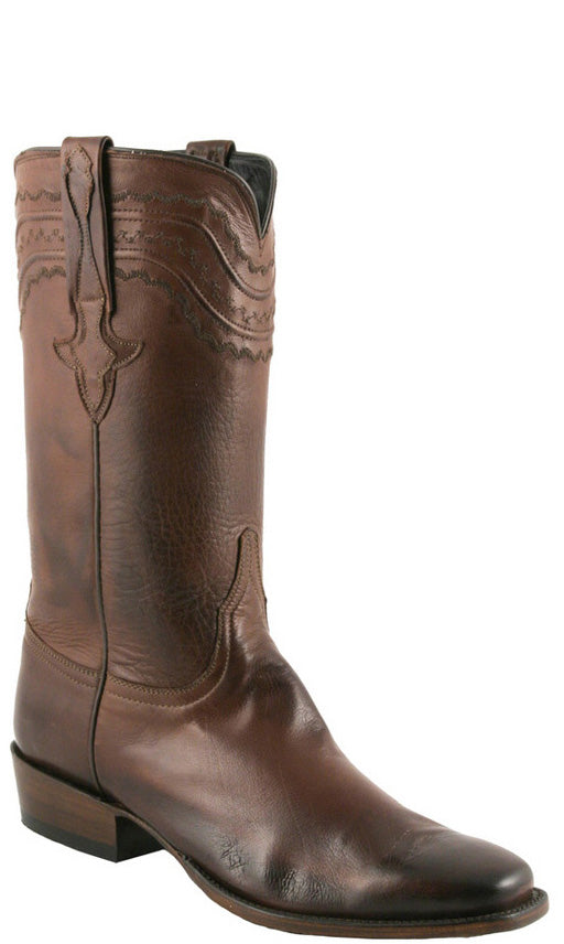 Lucchese Classics L9502 Mens Whiskey Burnished Baby Buffalo Cowboy Boots