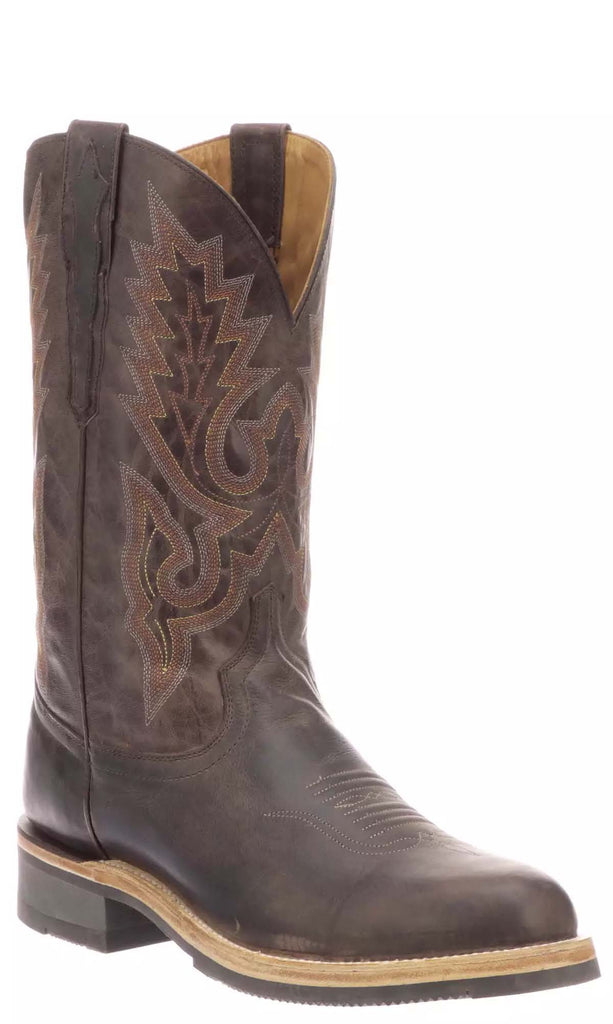 Lucchese RUSTY M0028.CF Mens Dark Brown Calfskin Boots