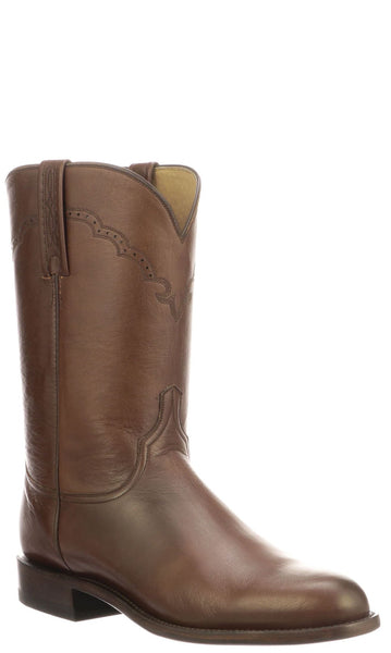 Lucchese LAWRENCE M0030.C2 Mens Antique Brown Lonestar Calfskin Boots