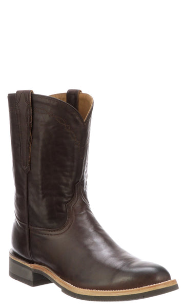 Lucchese RAYMOND M0032.CF Mens Chocolate Ranch Hand Calfskin Boots