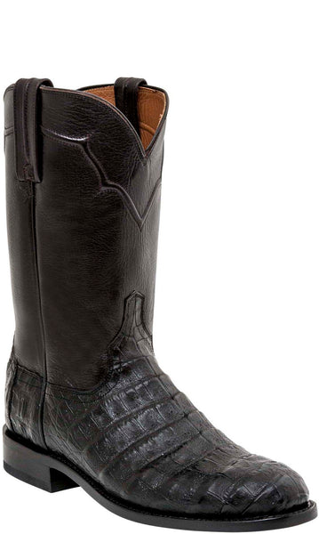 Lucchese DUSTIN M0701.C2 Mens Black Caiman Crocodile Boots