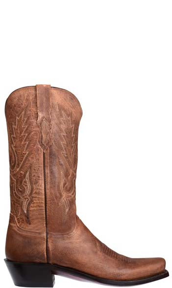Lucchese LEWIS M1002.74 Mens Chocolate Brown Madras Goat Boots