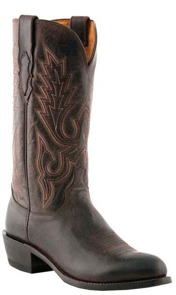 Lucchese M1002.R4 Lewis Mens Chocolate Brown Madras Goat Boots