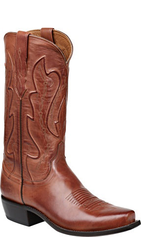 Lucchese M1004.74 Cole Mens Tan Ranch Hand Calfskin Boots