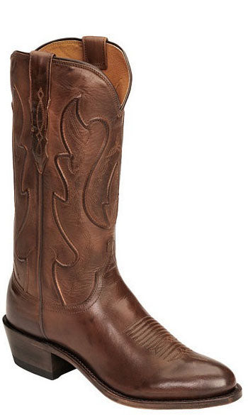 Lucchese COLE M1004.R4 Mens Tan Ranch Hand Calfskin Boots Size 8 D STALL STOCK