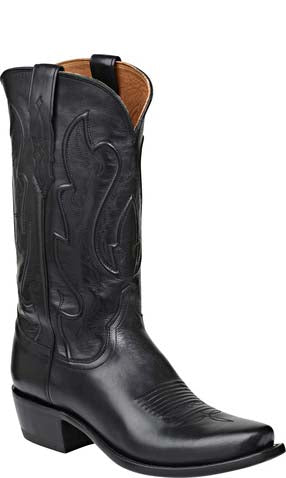 Lucchese COLE M1006.74 Mens Black Ranch Hand Calfskin Boots Size 9.5 D STALL STOCK
