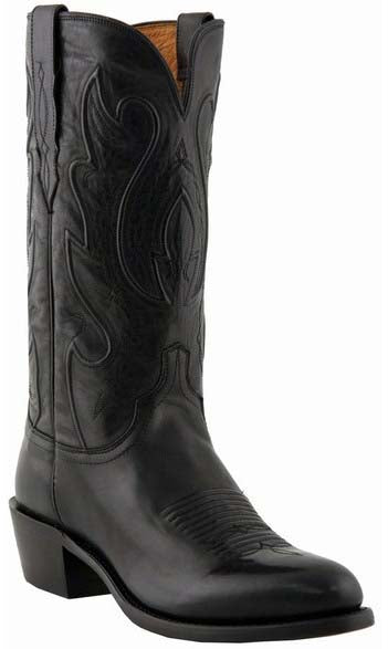Lucchese COLE M1006.R4 Mens Black Ranch Hand Calfskin Boots