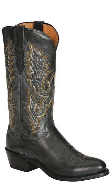 Lucchese LEWIS M1007.R4 Mens Black Madras Goat Boots