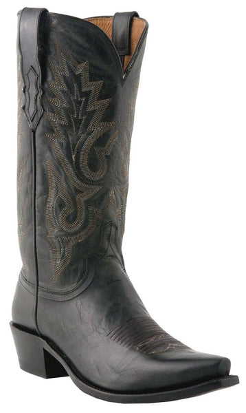 Lucchese M1007.S54 Mens Black Madras Goat Boots
