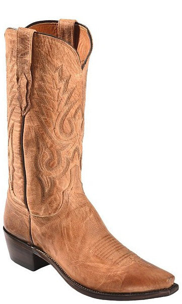 Lucchese LEWIS M1008.54 Mens Tan Mad Dog Goat Boots