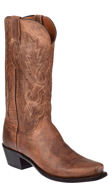 Lucchese LEWIS M1008.74 Mens Tan Mad Dog Goat Boots