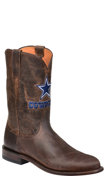 Lucchese M1016.C2 Mens Tan Dallas Cowboys Roper Boots