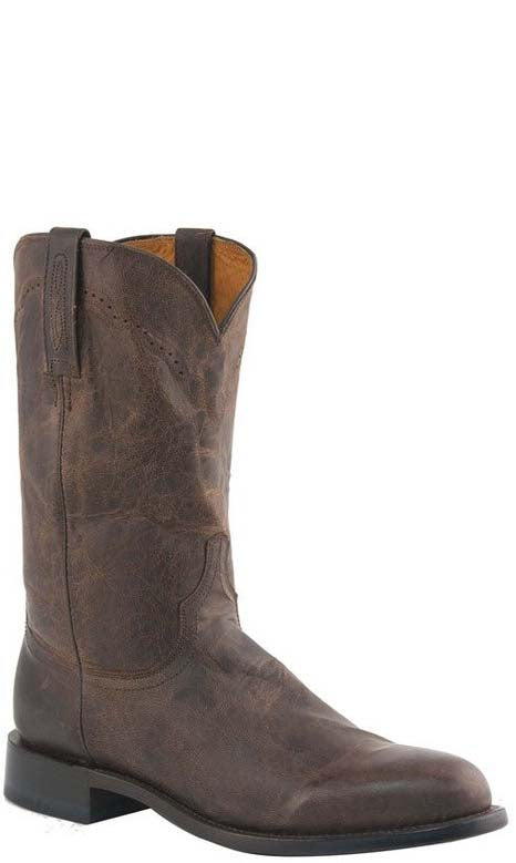 Lucchese M1018.C2 SHANE Mens Chocolate Brown Madras Goat Roper Boots