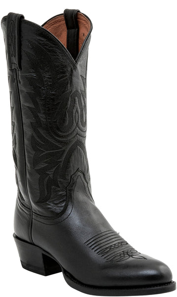 Lucchese CARSON M1020.R4 Mens Black Lonestar Calfskin Boots Size 12 EE STALL STOCK