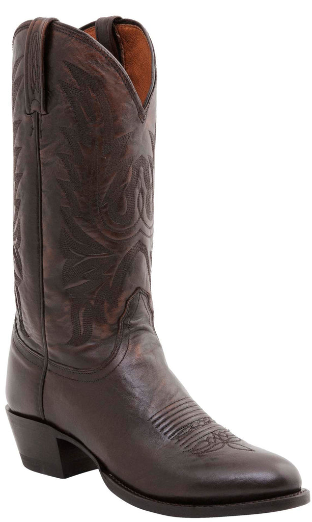 Lucchese CARSON M1023.R4 Mens Antique Walnut Brown Lonestar Calfskin Boots