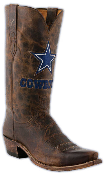 Lucchese M1041.S54 Mens Tan Goat Dallas Cowboys Boots