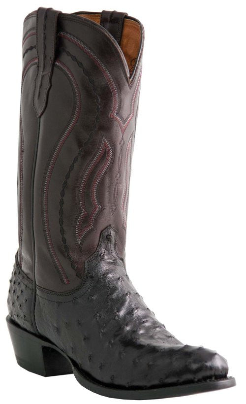 Lucchese M1608.R4 Mens Full Quill Ostrich Boots