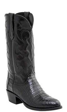 Lucchese CHARLES M1636.74 Mens Black Caiman Crocodile Belly Boots Size 8.5 D STALL STOCK