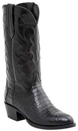 Lucchese Charles M1636.R4 Mens Black Caiman Crocodile Belly Boots