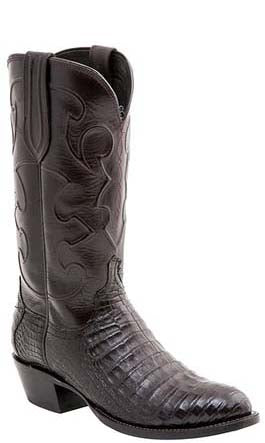 Lucchese Charles M1637.14 Mens Black Cherry Caiman Crocodile Belly 1 Toe Boots