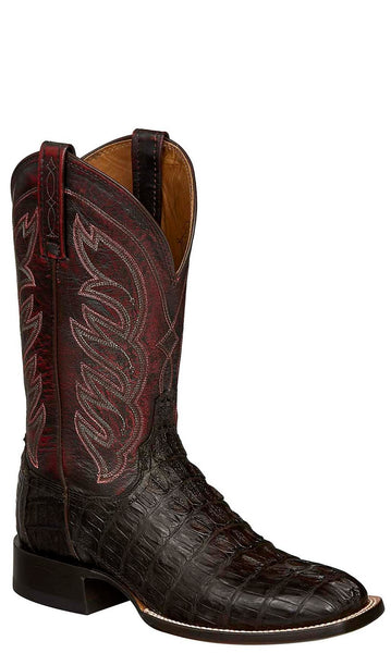 Lucchese LANDON M2686 Mens Barrel Brown Hornback Caiman Crocodile Tail Boots