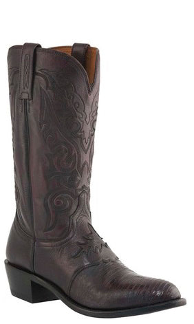 Lucchese M2901.J4 Mens Black Cherry Lizard Boots