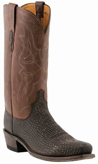 Lucchese CARL M3105.74 Mens Chocolate Sanded Shark Boots Size 9.5 EE STALL STOCK