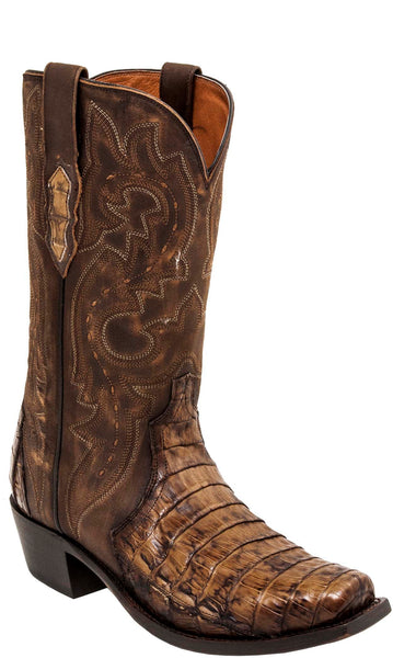 Lucchese DWIGHT M3232.74 Mens Brown Caiman Crocodile Boots
