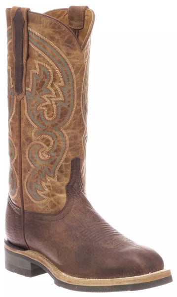 Lucchese RUTH M3692.WF Womens Chocolate Calfskin Boots Size 8.5 B STALL STOCK