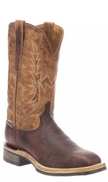 Lucchese RUDY M4090.WF Mens Chocolate Calfskin Boots Size 13 EE STALL STOCK