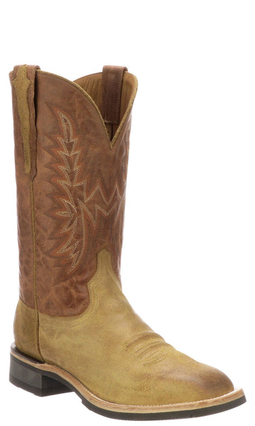 Lucchese RUDY M4094.CF Mens Sand Comanche Calfskin Boots Size 9 D STALL STOCK