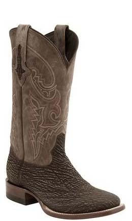 Lucchese RYAN M4333.TWF Mens Chocolate Brown Sanded Shark Boots