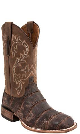 Lucchese Malcolm M4343 Chocolate Giant American Alligator Mens Boots