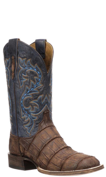 Lucchese Malcolm M4344 Brandy Giant American Alligator Mens Boots