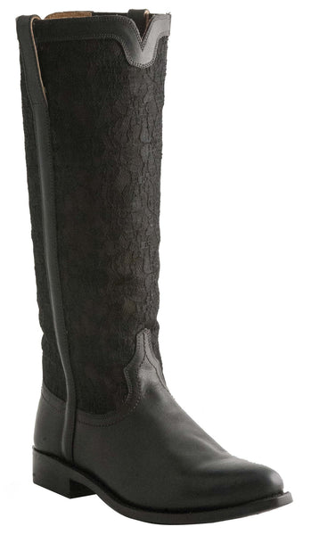 Lucchese M4644 Womens Mesh Lace Black Boots