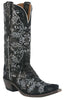 Lucchese M4717.S54 Womens Black & Silver Neomi Stich Design Python Print Boots