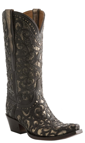 Lucchese SIERRA M4841 Womens Espresso Curly L Lasercut Boots