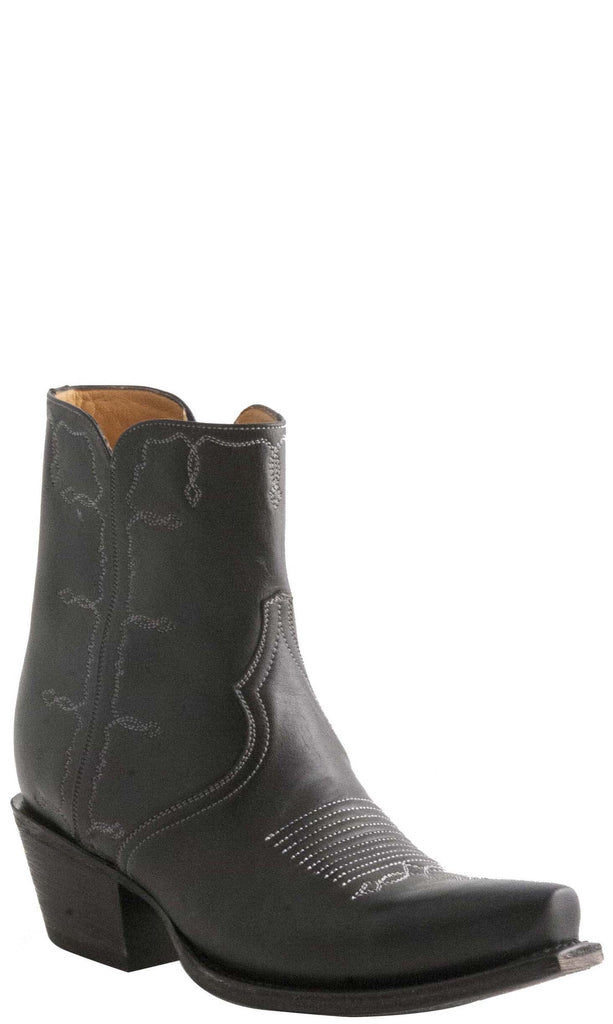 Lucchese M4848 Womens Black Shortie with Toe Medallion