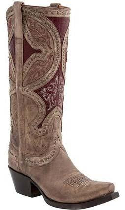 Lucchese LEILA M4861 Womens Nude Mosaic Persian Art Boots