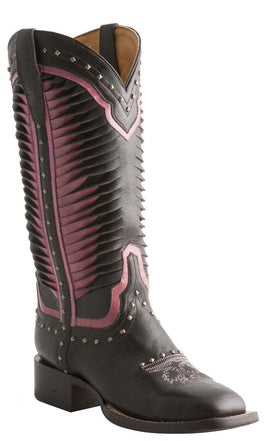 Lucchese M4871 Womens Chocolate Twisted Leather Boots