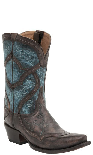 Lucchese M4917 Womens Café Mid Shaft Mosaic Boots