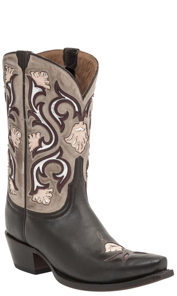 Lucchese  M4919 Womens Chocolate Calfskin Boots